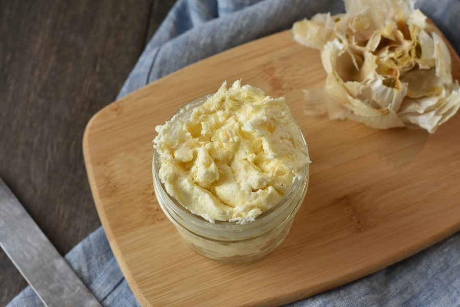 How to Make Homemade Roasted Garlic Butter